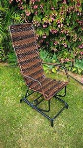 Cadeira de Balanço Antonow / Com Molas / Fibra sintética Tramada