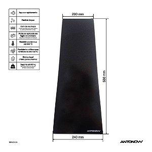 Chapa Vitrocerâmica trapezoidal 58 x 20 x 24 cm