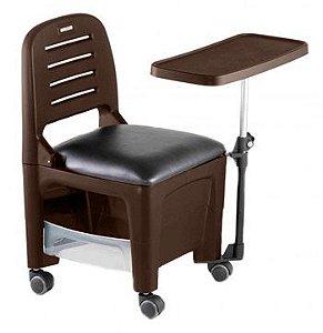 Cadeira Mesa Manicure Cirandinha Bari, Tabaco - Dompel