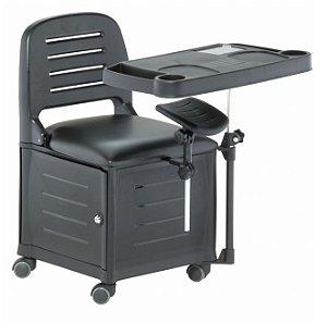 Cadeira Mesa Manicure Cirandinha Veneza, Preta - Dompel