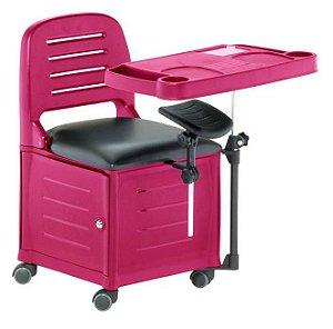 Cadeira Mesa Manicure Cirandinha Veneza, Rosa - Dompel