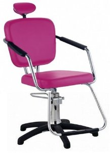 Cadeira Nix Hidráulica Para Salão Cabeleireiro, Rosa - Dompel