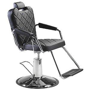 Cadeira de Barbeiro Reclinável e Hidráulica, Preta - Texas Dompel