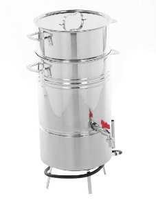 Suqueira Inox Panela Máquina P/ Fazer Suco, 7kgs, C/ Fogareiro