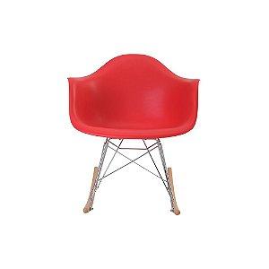 Cadeira De Balanço Eiffel Assento Polipropileno Vermelho