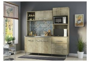 Cozinha Compacta Carol com 7 Portas e 3 Gavetas Completa