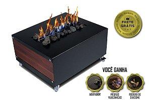 Lareira Ecológica - Mini Bar e Mesinha Centro Mesa | Premium Luxo