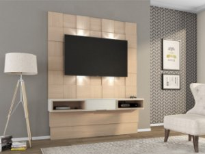 Painel/Home Suspenso para TV C/ led TB125L - Natural Off White
