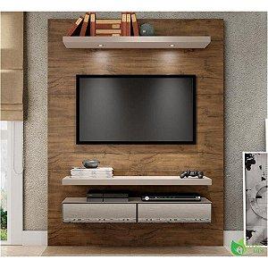 Painel p/ TV com Espelho e LED TB106E - Nobre