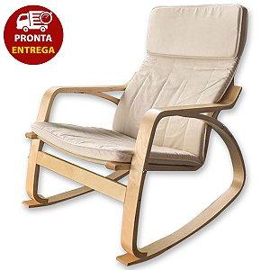 Cadeira Balanço Poltrona Papai Madeira Moderna Dondola