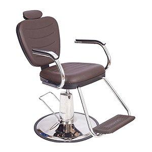 Poltrona Cadeira Barbeiro Tabaco Reclinável Hidráulica
