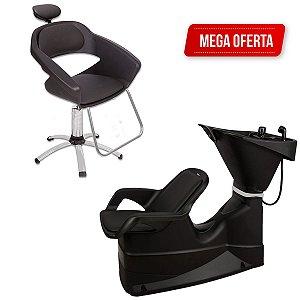 Kit Cadeira Primma E Lavatório Reclinável Dompel + Garantia