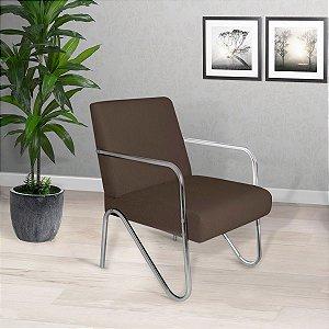 Poltrona/Cadeira Decorativa Sirena - Marrom