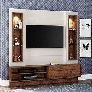 Painel/Home TV 42'' TB128L Com Led - Off White/Nobre