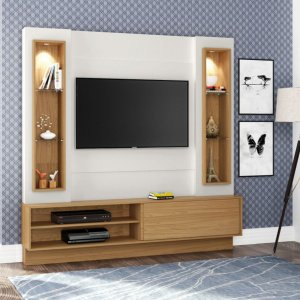 Painel/Home TV 42'' TB128L Com Led - Off White/Freijo