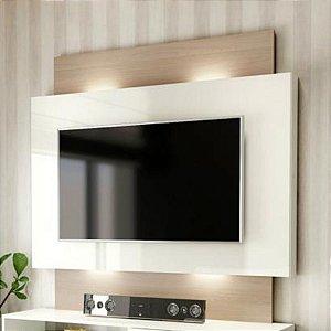 "Painel para TV até 55"" com Luzes LED TB131L - Natural Off White"