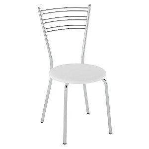 Cadeira Pc05 Encosto Aramado Assento Branco