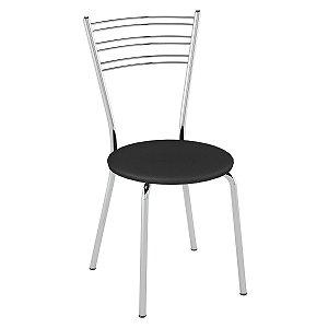Cadeira Pc05 Encosto Aramado Assento Preto