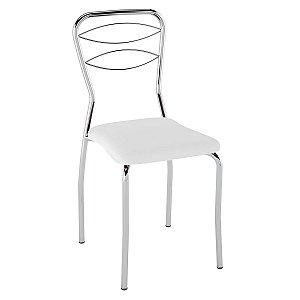 Cadeira PC11 Encosto Aramado Assento Branco