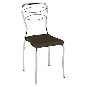 Cadeira PC11 Encosto Aramado Assento Cacau