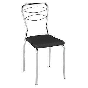 Cadeira PC11 Encosto Aramado Assento Preto