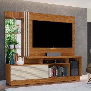 Painel Home Para TV  Frizz Plus - Natural Off White