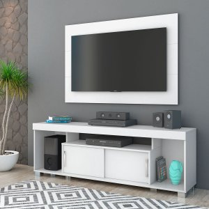 Painel Home Para TV Combo Pierre - Branco (Brilho)