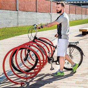 Bicicletário Suporte Bicicleta P/ Chão Espiral Spyra Moderno