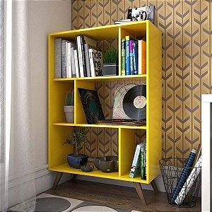 Estante para Livros com Nichos Retrô RT 3015 - Amarelo
