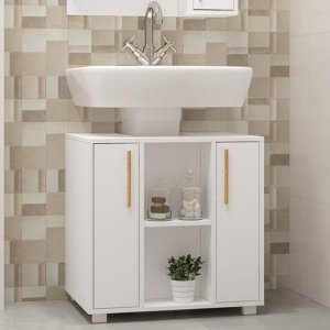Balcão para Banheiro Linha Versa BBN 08 - Branco