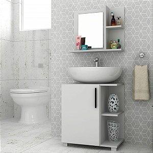 Conjunto para Banheiro Painel + Balcão  BBN17 - Branco