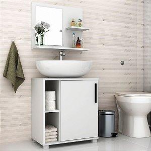 Conjunto para Banheiro Painel + Balcão BBN19 - Branco