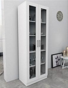 Armário Escritório Com Portas De Vidro Office Plus - Branco