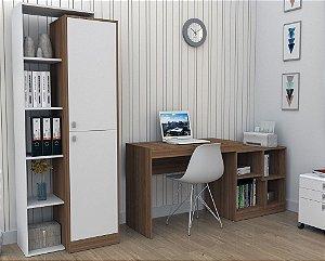 Escrivaninha E Mesa Para Computador Moove - Castanho
