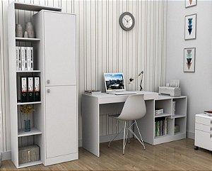 Escrivaninha E Mesa Para Computador Moove - Branco