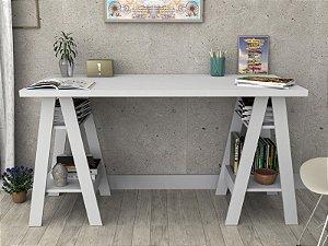 Mesa Escrivaninha Cavalete Self - Branco