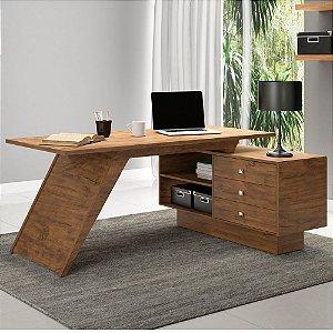Mesa para Computador 3 Gavetas MDF - Nobre