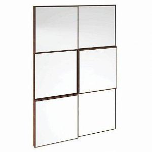 Painel Decorativo Quadriculado Espelhado MDF - Nobre