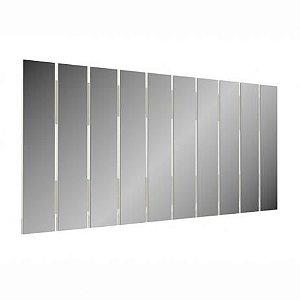 Painel Decorativo MDF com Espelhos - Off White