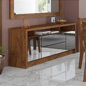 Balcão Buffet para Sala de Jantar com Espelho MDF - Nobre