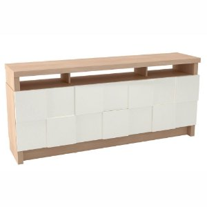 Balcão Buffet 2 Portas 2 Gavetas em MDF - Natural Off White