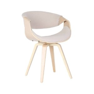 Cadeira Poltrona Nicole Assento E Encosto Estofado Em Pu - Cru
