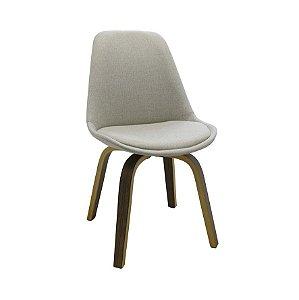 Cadeira Lis Com Assento Em Polipropileno E Almofada Fixa - Bege