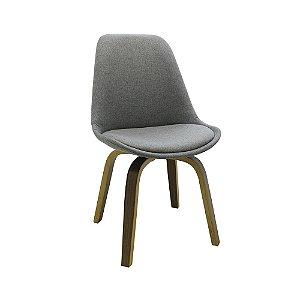 Cadeira Lis Com Assento Em Polipropileno E Almofada Fixa - Cinza