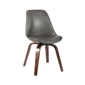 Cadeira Lis Com Assento Em Polipropileno E Almofada Fixa - Cinza Escuro