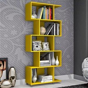 Estante Para Livros Com Nichos Esm209 Retrô - Amarelo