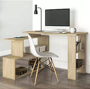 Mesa Para Computador Escrivaninha 4 Nichos Design Nature
