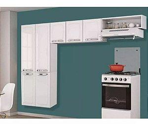 Cozinha Aço Compacta 7 Portas Aéreo Rose Branco Itatiaia