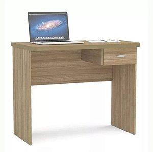 Mesa Escrivaninha Para Computador Com 1 Gaveta Castanho