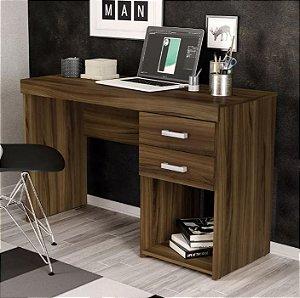 Mesa Para Escritório Computador 2 Gavetas 1 Nicho Malta New Avelã